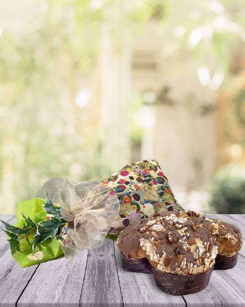 Immagine di Colomba con Cioccolato e Crema Nocciola